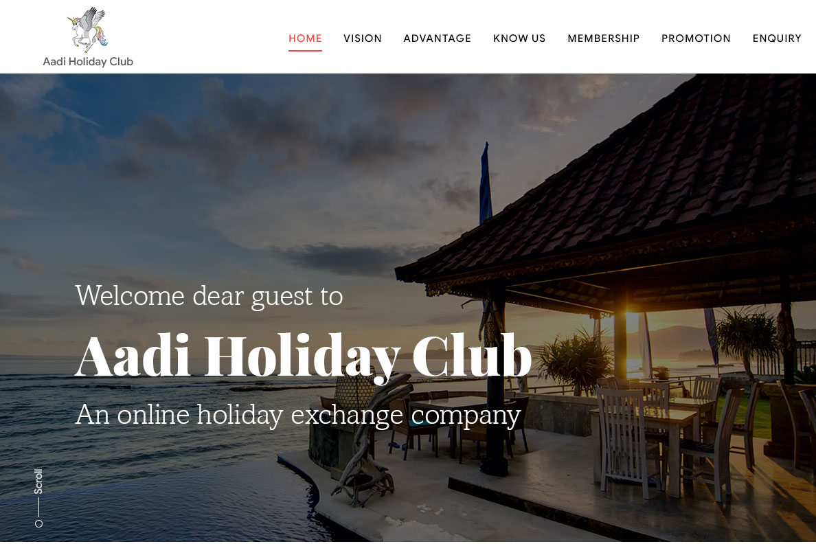 Aadi Holiday Exchange Management